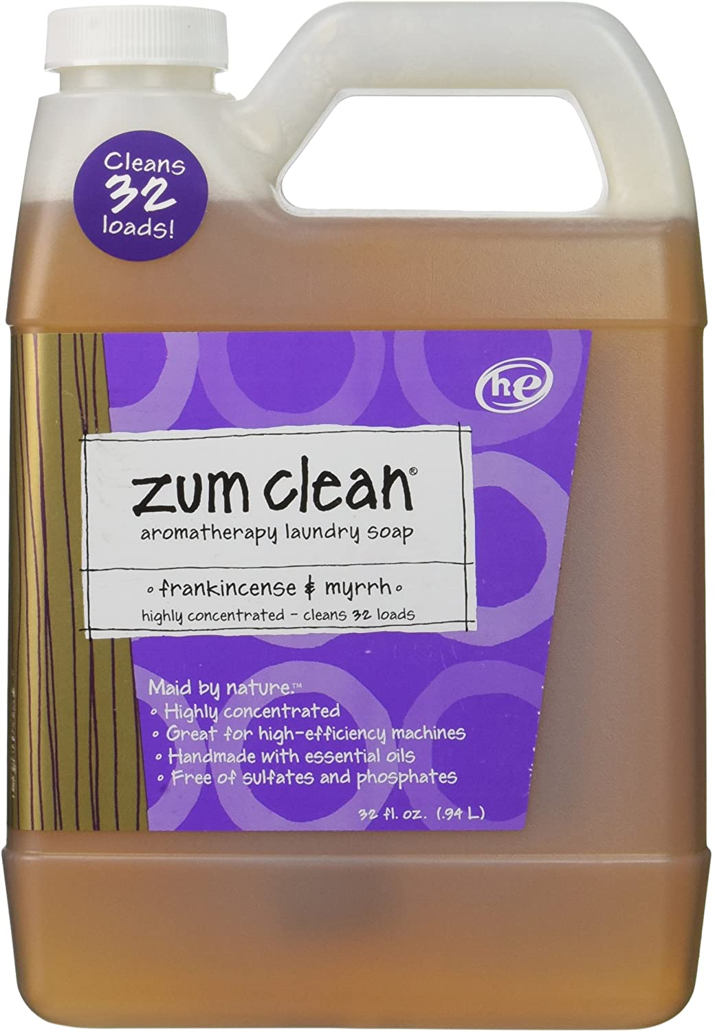 Indigo Wild Zum Clean Laundry Soap, Frankincense and Myrrh, 32 Fluid Ounce