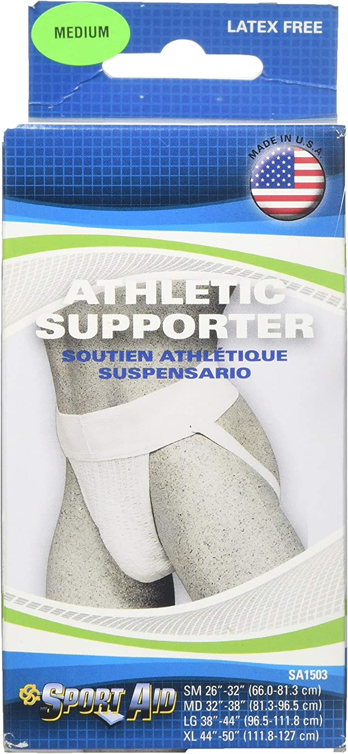 Hernia Athletic Supporter White