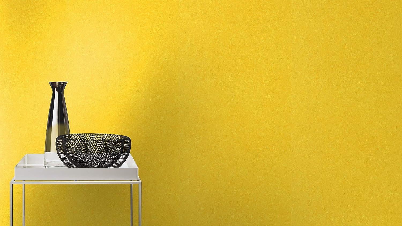 Einfarbige Vliestapete in Gelb mit k/örniger Struktur rasch Tapete 860177 aus der Kollektion b.b home passion VI 10,05m x 53cm L x B