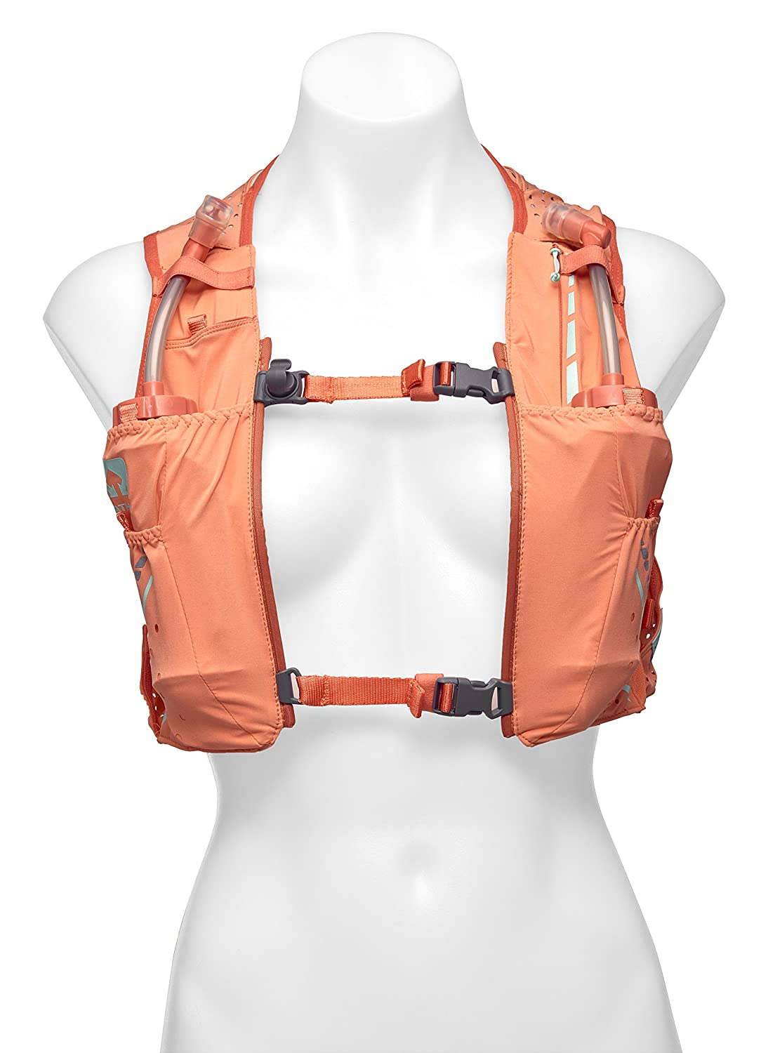 Nathan VaporHowe Hydration Pack, Running Vest, Includes Two 12oz Flasks with Extended Straws, Compatible with 1.5L Hydration Bladder Reservoir, Women's Women's SHOCK DOCTOR NATHAN NS4537-0253-32-P