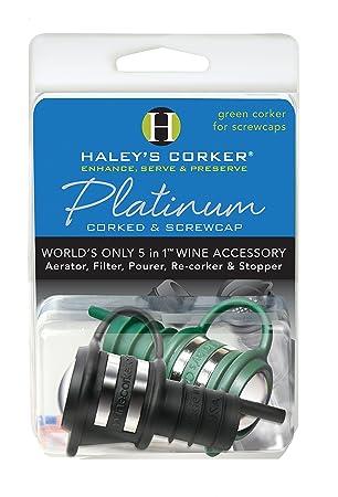 Combo de platino 1 negro Corker Plus 1 Geen screwcap Clamshell: Amazon.es: Jardín