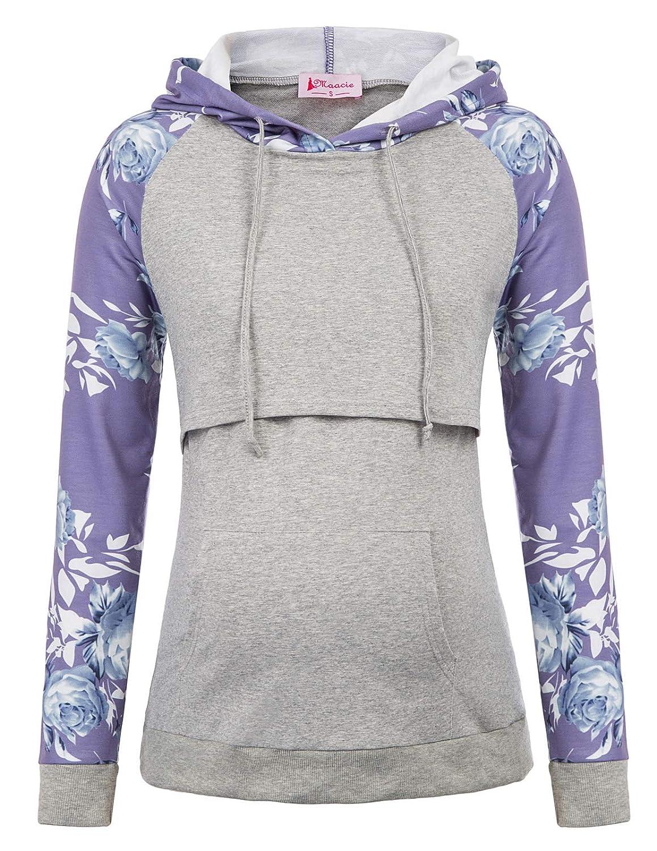 Maacie Schwangere Umstandskleidung Sweatshirt Langarmshirt Hoodie Stillpullover S MC1039-5