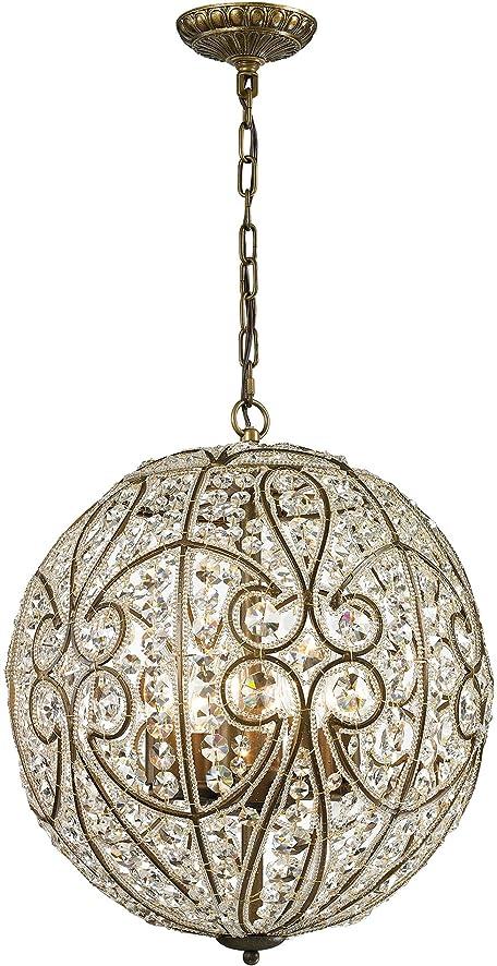 elk lighting elizabethan collection 8 light pendant in dark bronze