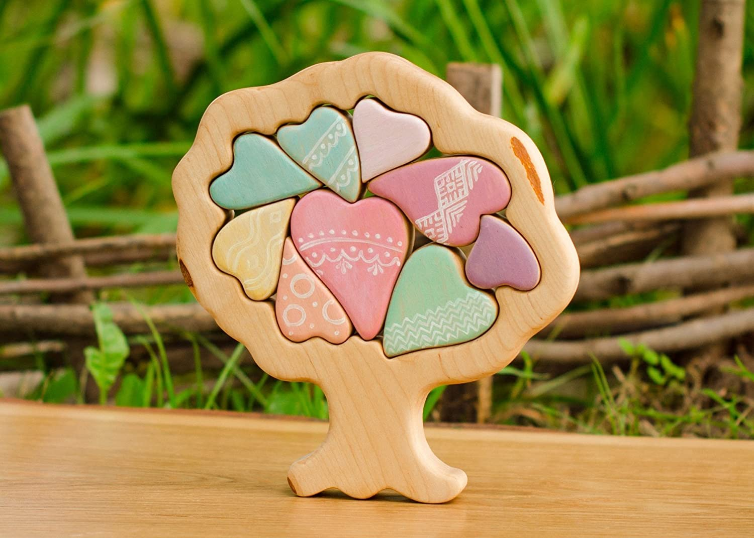 DEREVKO Wooden Hearty Tree Of Love Puzzle 7.8////ECO Toy////Valentines Day Gift