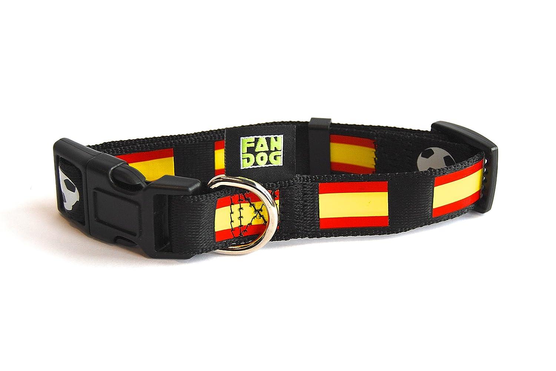 Collar de perro FanDog - Diseño España - talla M: Amazon.es ...