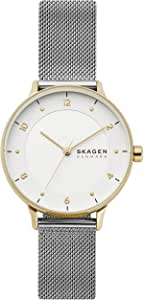 Skagen Women's RIIS Quartz Analog Stainless Steel and Stainless Steel Watch, Color: Silver (Model: SKW2912)