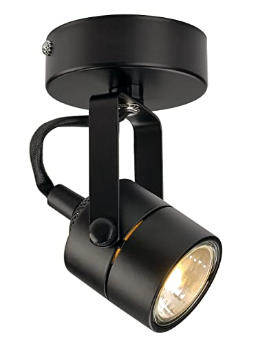 SLV 132020 SPOT 79 230V Wall And Ceiling Light, Black, GU10, Max,