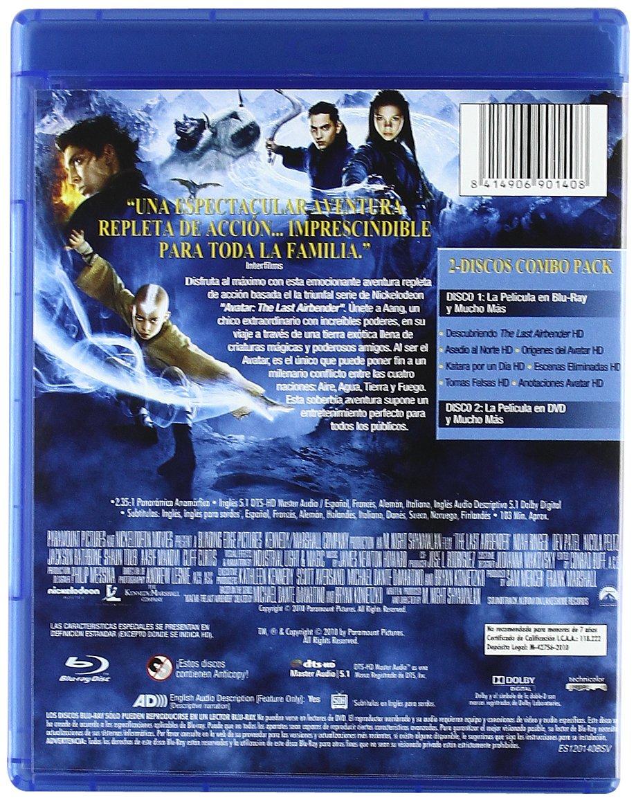 Airbender, El Último Guerrero Combo Blu-Ray + DVD Blu-ray: Amazon ...