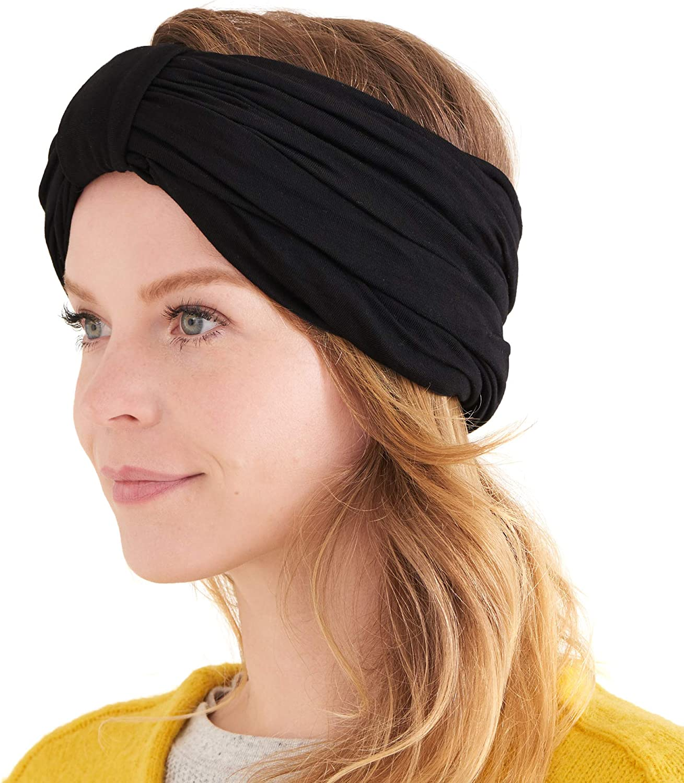 Diadema Turbante Mujer Grueso - Pañuelo Cabeza Abrigo Invierno Sombrero de Quimioterapia Cabello Natural