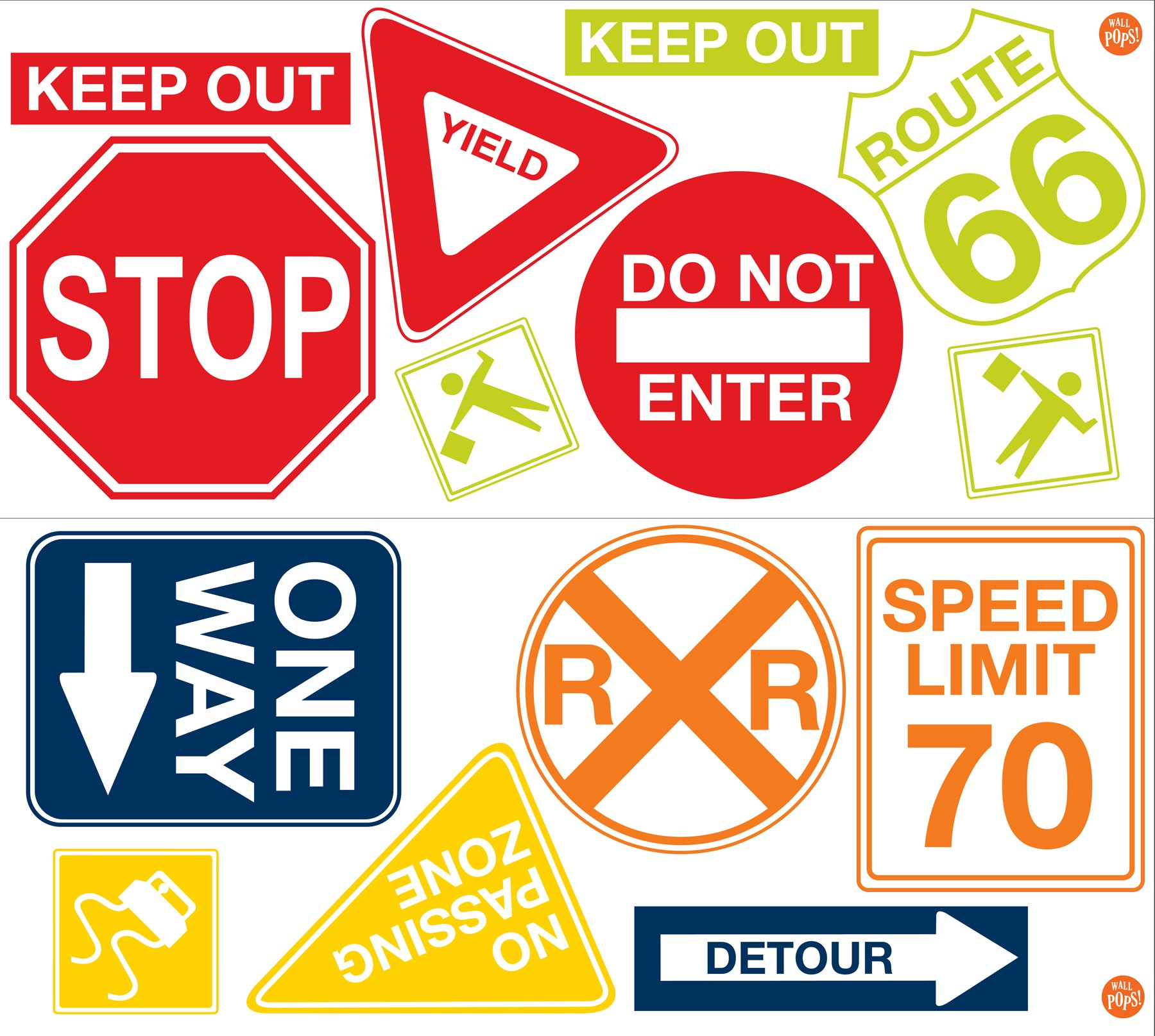 Wall Pops  WPK0617 Road Signs Wall Decals,  17. 25-inch by 39-inch, Two sheets by Wall Pops (Image #4)