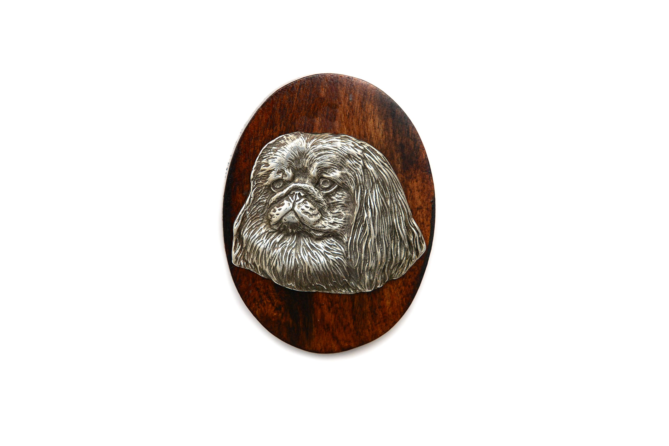 Pekingese-Dog-clipring-Ring-ClipNumber-Holder-Limited-Edition-ArtDog