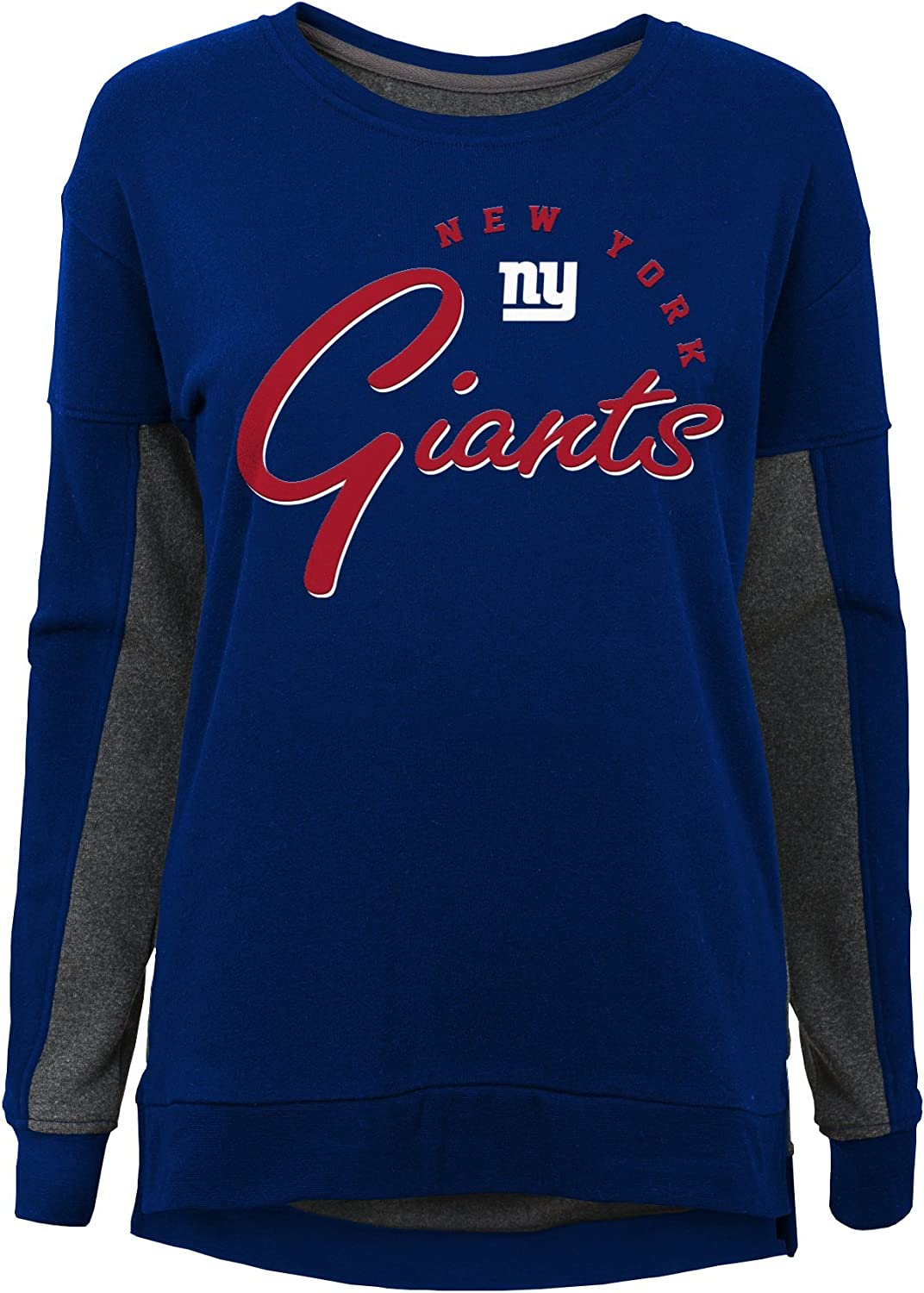 Youth Large NFL New York Giants Youth Girls In the Mix Long Sleeve Crew Neck Top Dark Royal 14
