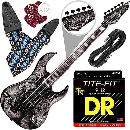 Guitarra eléctrica Dean Michael Angelo Batio MAB4 con correa para ...