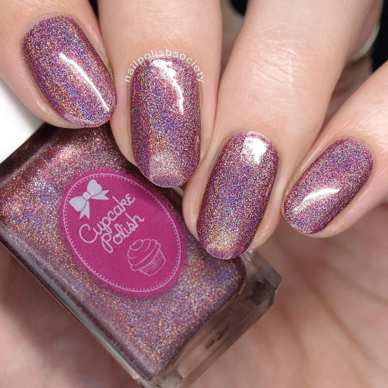 Amazon.com: Cinnamon - mauve holographic nail polish by Cupcake ...