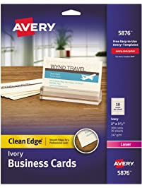 Business cards amazon office school supplies paper avery 5876 two side printable clean edge business cards for laser printers ivory colourmoves