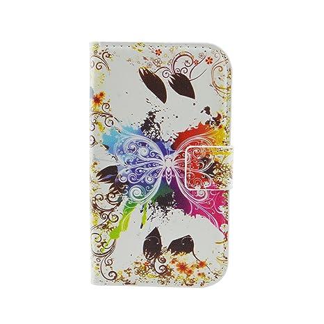 Qiaogle Teléfono Case - Funda de PU Cuero Billetera Clamshell Carcasa Cover para Samsung Galaxy Grand Neo i9060 / Grand Neo Plus i9062 (5.0 Pulgadas) ...