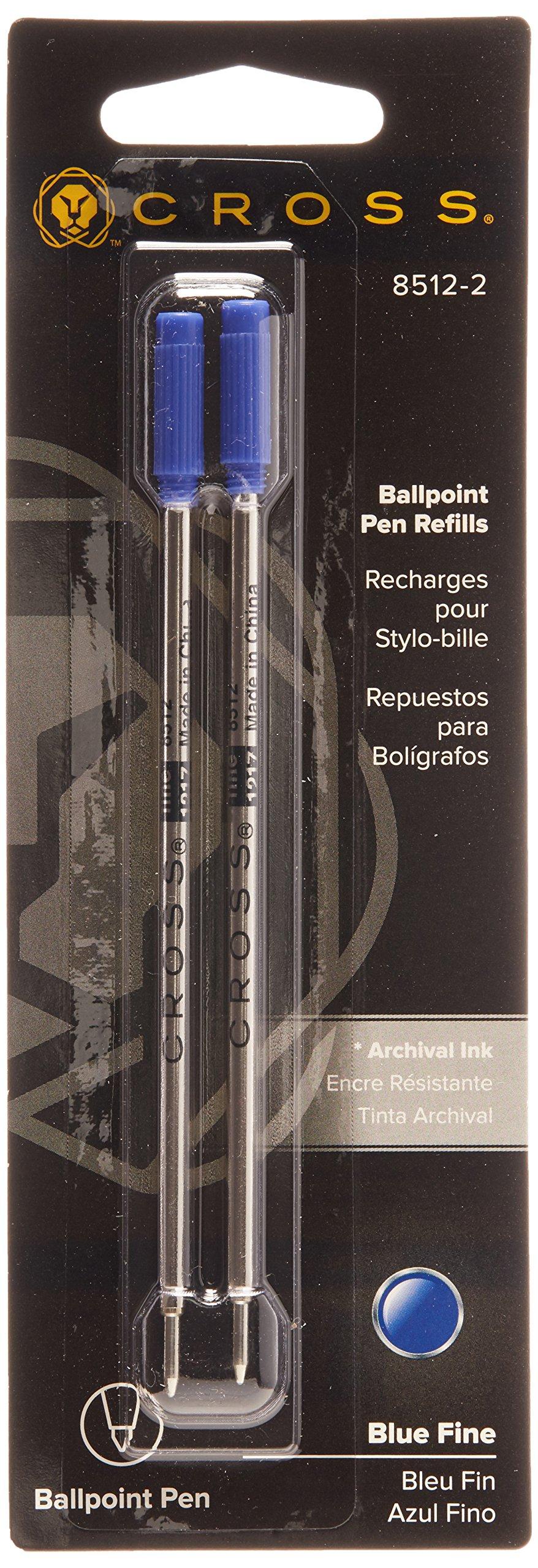 Cross Ballpoint Pen Refill 12-Pack Blue Fine