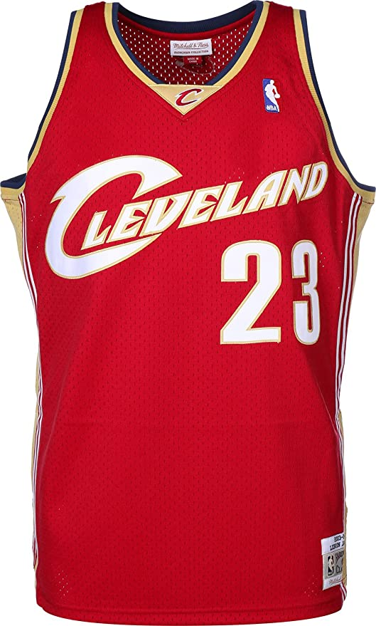 Camiseta Swingman vintage Mitchell & Ness LeBron James Cleveland ...