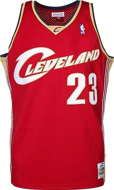47bcfbb287 Mitchell & Ness Replica Swingman NBA Jersey HWC 23 Lebron James Cleveland  Cavaliers Basketball Trikot: Amazon.es: Ropa y accesorios