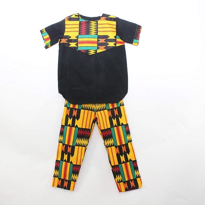 Amazon.com: Mawusi - Traje para niños con estampado africano ...