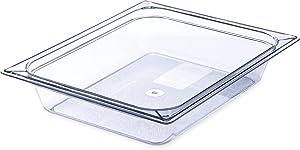 Carlisle 10220B07 Storplus Half Size Food Pan, Polycarbonate, 2.5