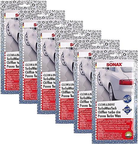 Sonax 6x 04140000 Clean Drive Turbowaxtuch 40x50 Wachstuch 1 Stück Auto