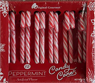 product image for Original Gourmet (1) Box Candy Canes - Peppermint Holiday Flavor- 12 Individually Wrapped Pieces per Box Net Wt. 5.3 oz