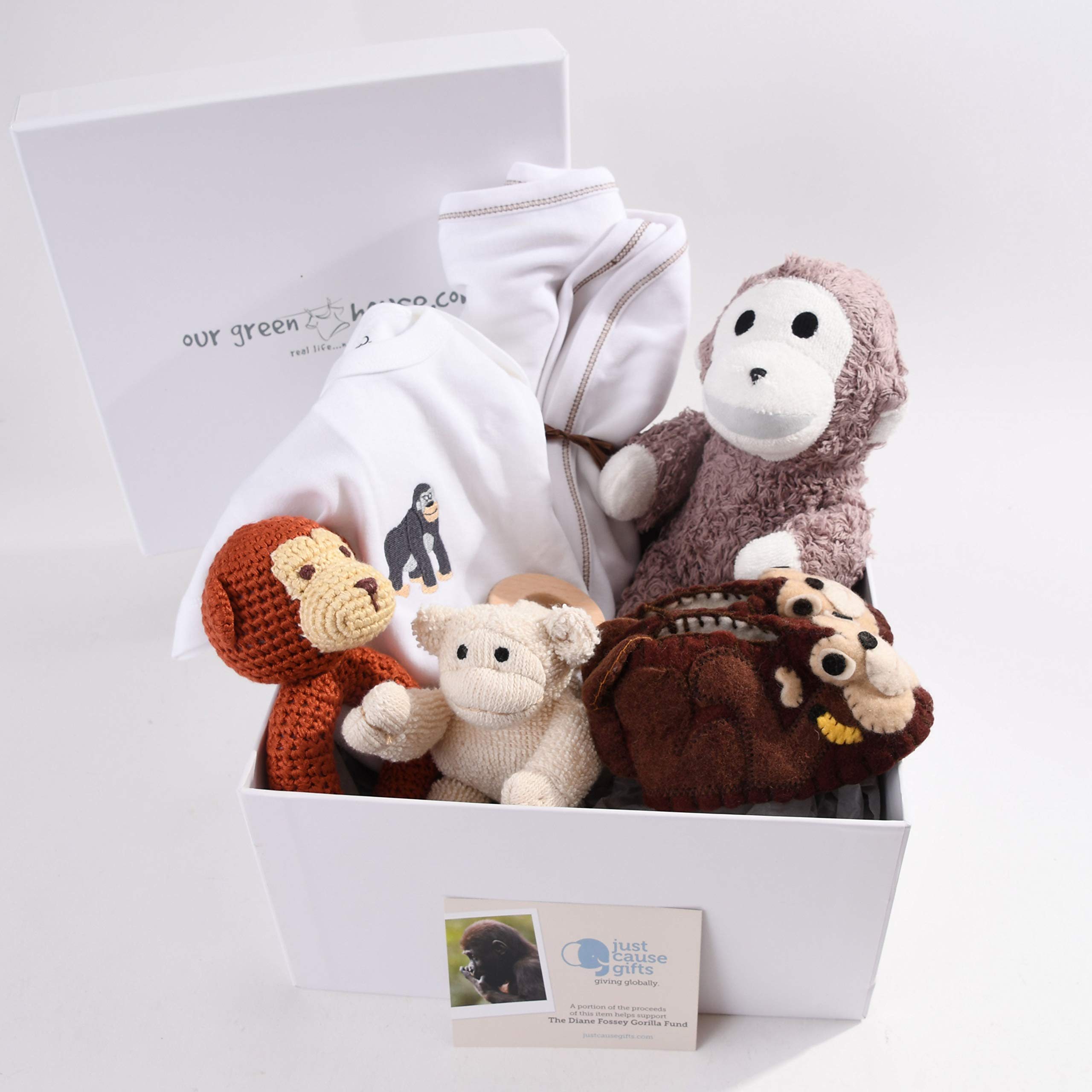 Baby Gifts That Give Back - Save The Gorillas Organic Toys and Clothes for Baby (6-12 Months)