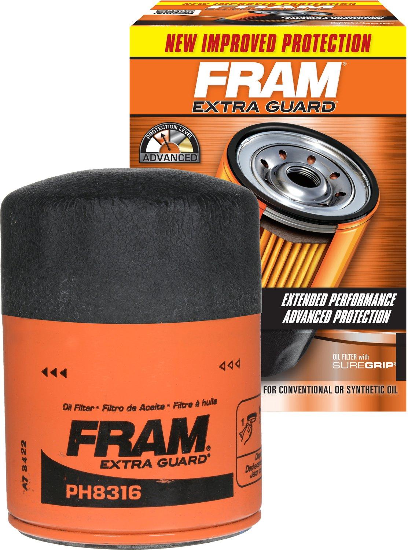 Fram PH8316 Extra Guard Passenger Car Spin-On Oil Filter, Pack of 1 Fram Filters FRA:PH8316
