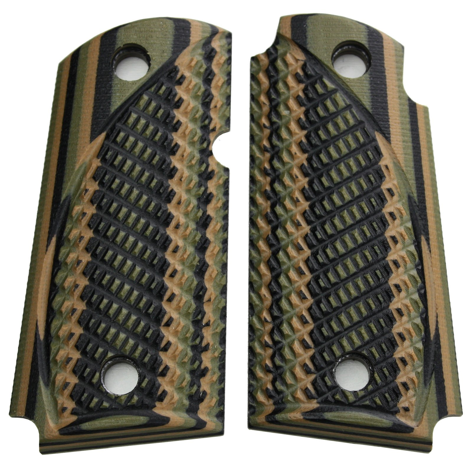 StonerCNC Kimber Micro Carry 9 9mm Spartan G10 Grips with or Without Ambi (Mil Spec Camo, Non Ambi) by StonerCNC