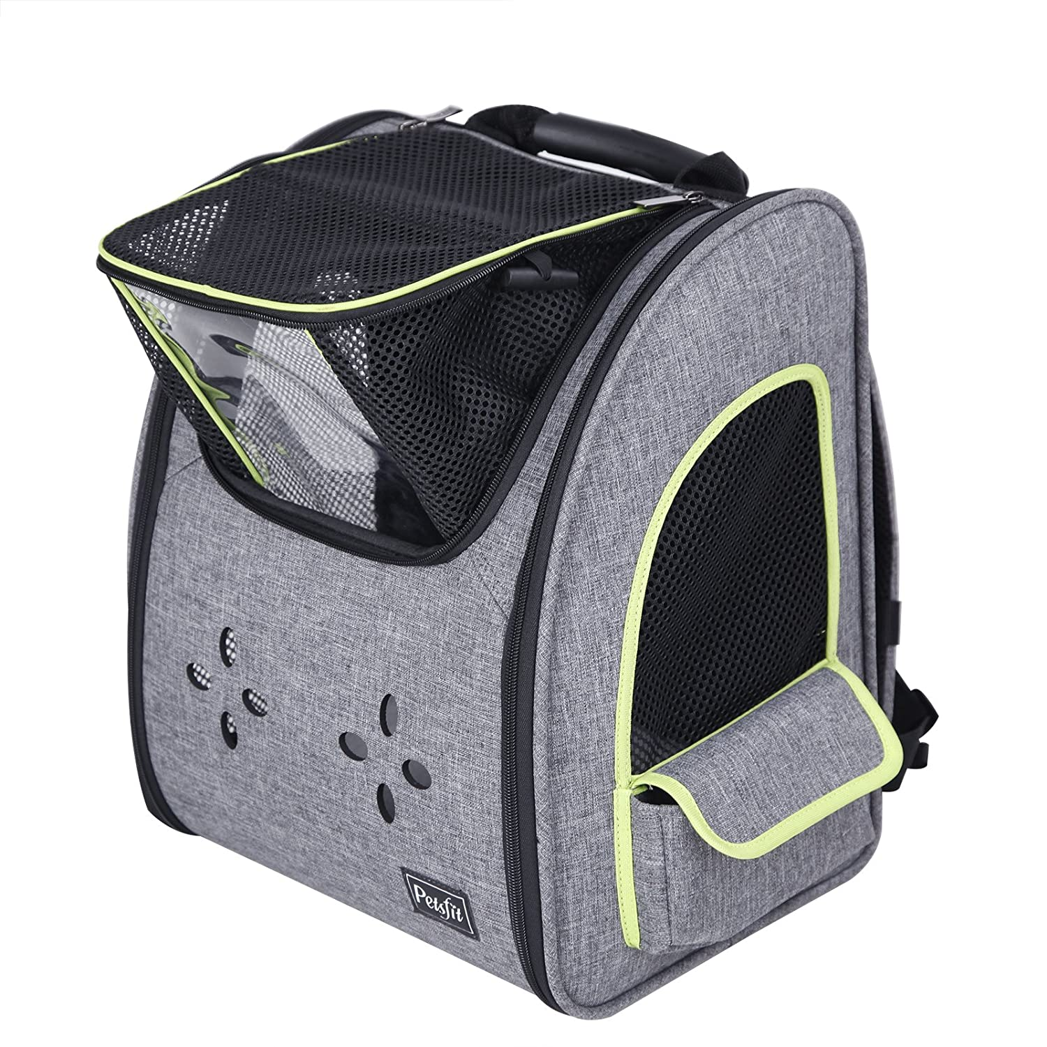 Petsfit Comfort Dogs Carriers Backpack, Fabric Pet Bag with Good Ventilation Go for A Walk Hiking Traveling and Cycling Ltd