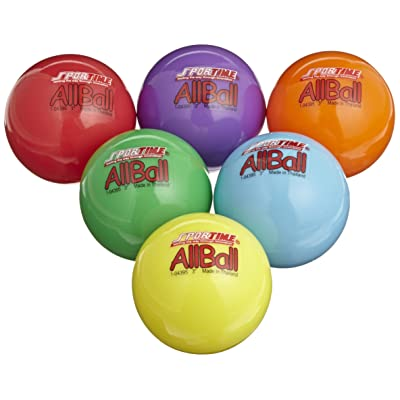 Sportime Multi-Purpose Inflatable All-Balls, 3 Inches, Set of 6, Assorted Colors - 020500: Industrial & Scientific