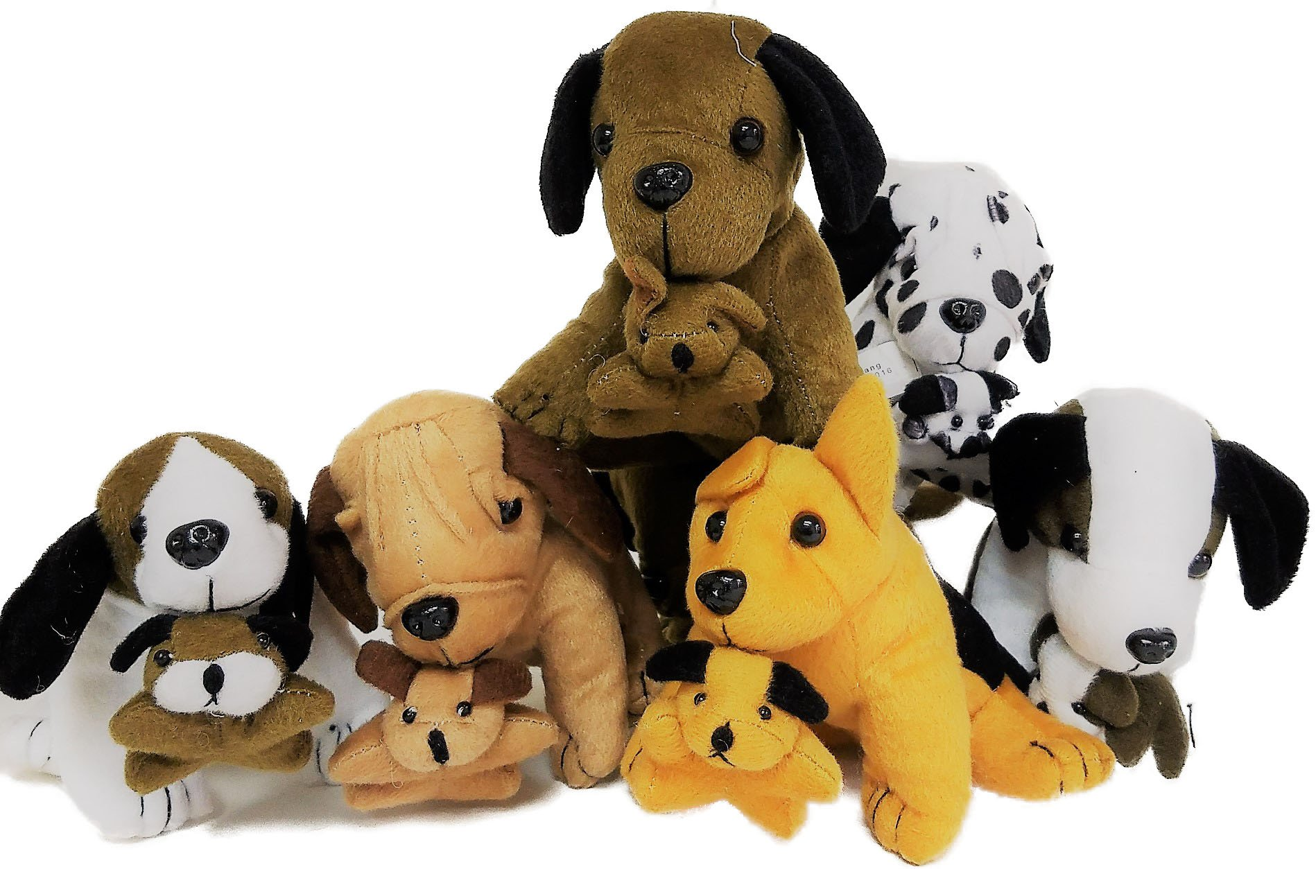 Plush Dogs Holding Puppies (24)