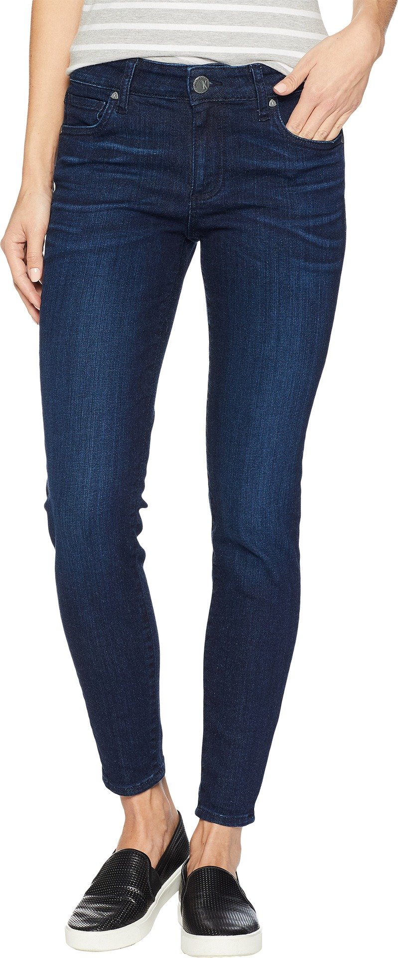 KUT from the Kloth Women's Donna Ankle Skinny Jeans in Influential Influential/Euro Base Wash 10 27