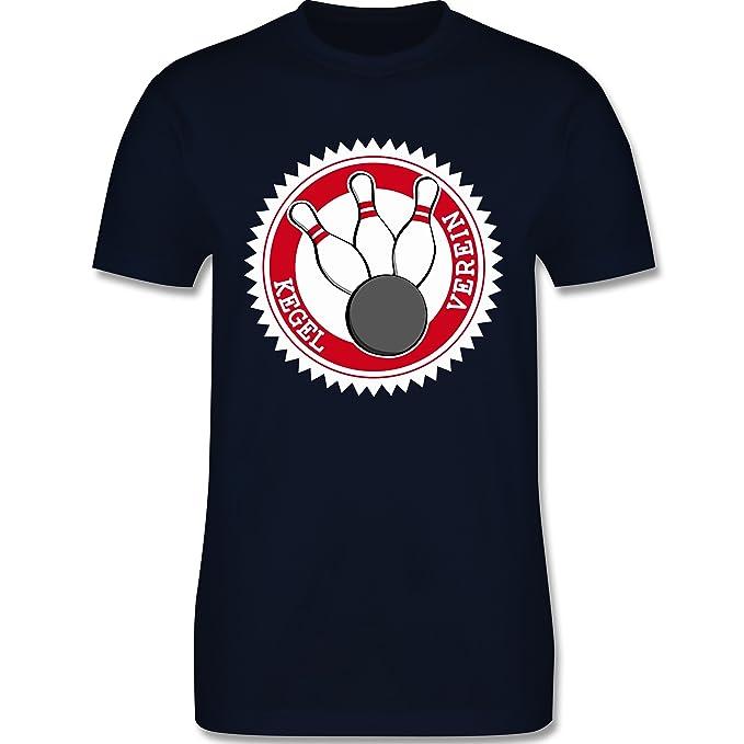 Bowling & Kegeln - Kegel Verein Badge Abzeichen - Herren T-Shirt Rundhals:  Shirtracer: Amazon.de: Bekleidung