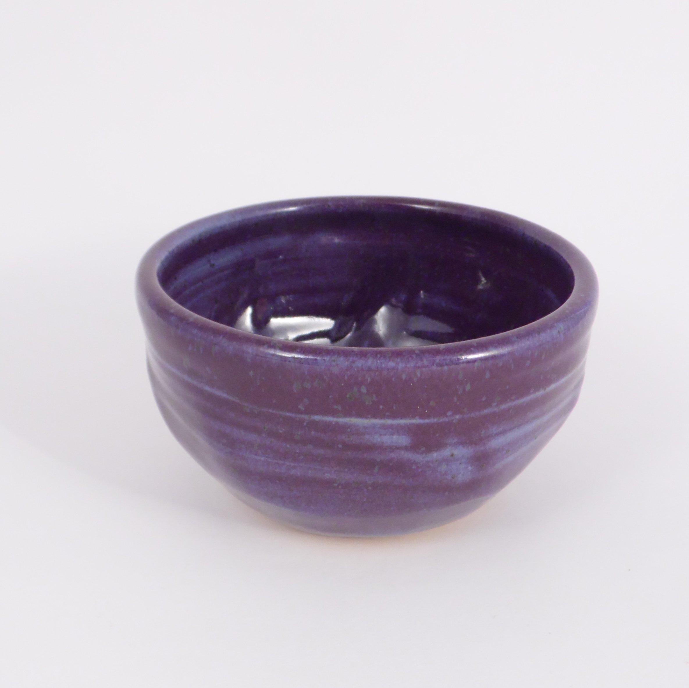 Purple Shaving Bowl - Handmade Pottery