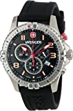 Wenger 77055 Men's Silicon Strap Black Dial Chronograph Watch