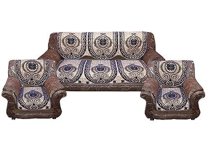 Amazon.com: Kuber Industries Sofa Cover Heavy Velvet Cloth 5 ...