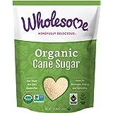 Wholesome Organic Cane Sugar, Fair Trade, Non GMO & Gluten Free, 1 Pound (Pack of 12)