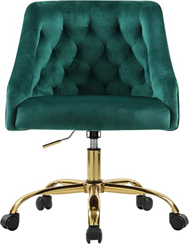 Velvet Fabric Swivel Task Chair