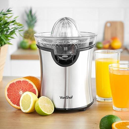 VonShef Citrus Fruit Juicer Machine 100W for Orange, Lemon