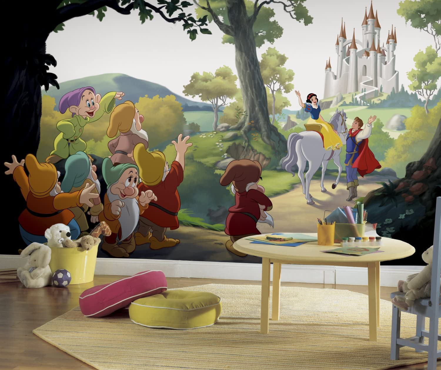 RoomMates Disney Princess Snow White 'Happily Ever After' Removable Wall Mural - 10.5 feet X 6 feet
