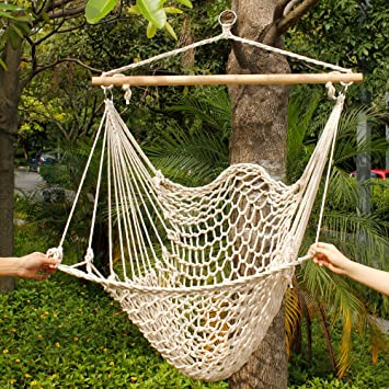 Cotton Super Deluxe Sky Hanging Air Chair   Hammock Swing