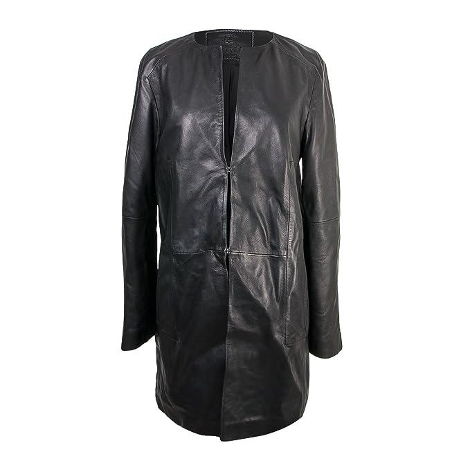 Zerimar Abrigo Mujer | Chaqueta Mujer | Abrigo Mujer Piel | Abrigo Mujer Elegante | Abrigo Largo Mujer Piel | Color Negro: Amazon.es: Ropa y accesorios