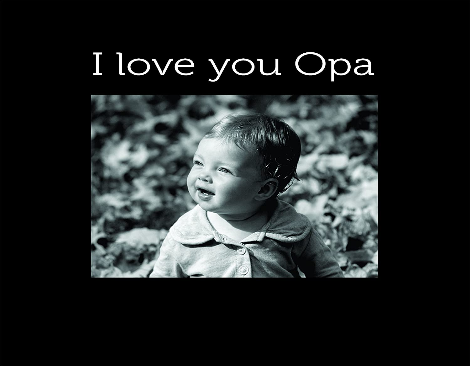 Black Small Engraved Photo Frame Infusion Gifts I I Love You Opa