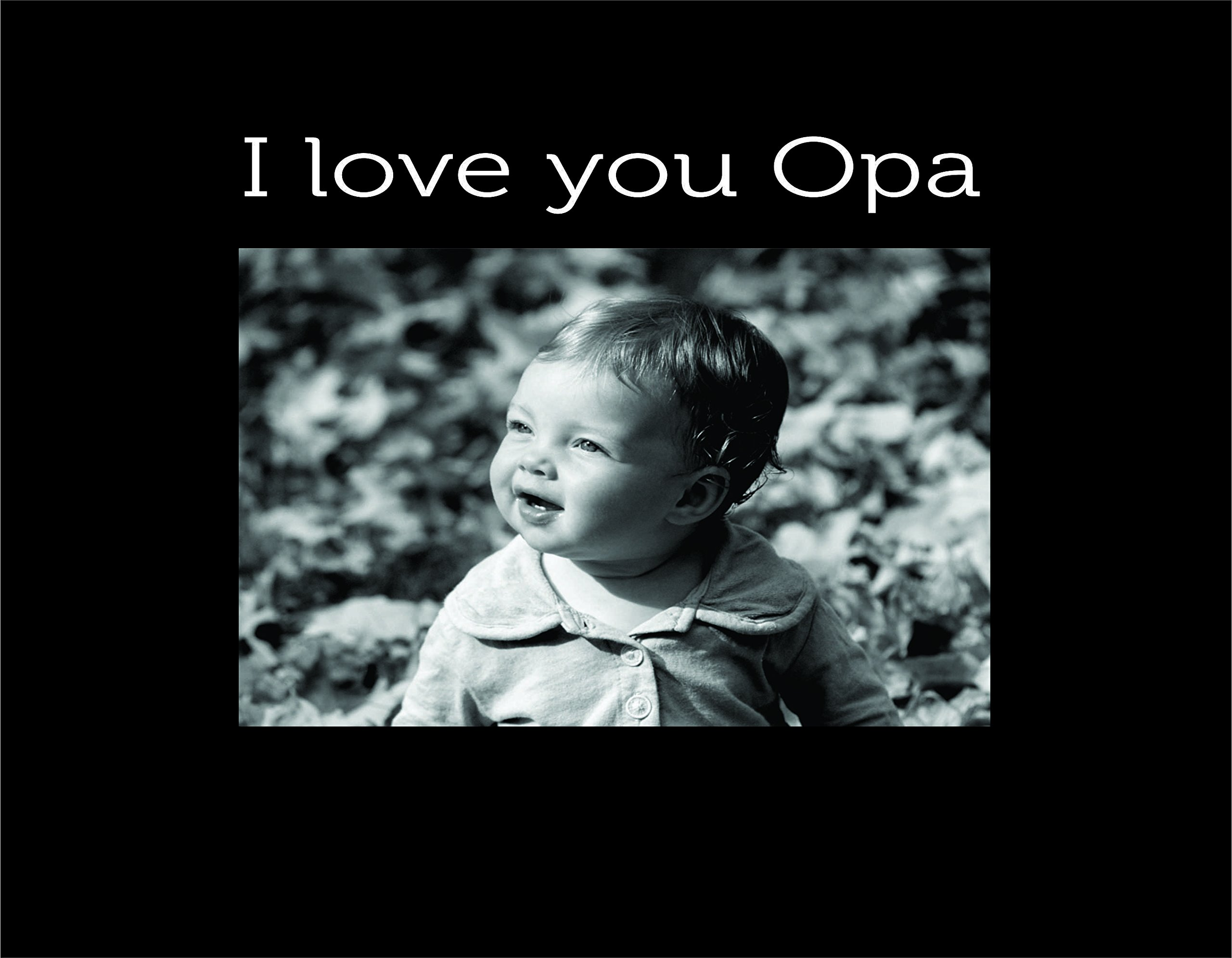 Infusion Gifts 9096SB I Love You Opa, Small Engraved Photo Frame, black