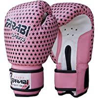 Farabi Kids Boxing Gloves 4-oz Pink Sparring Training Punching Bag Gloves Age 3-8 Year Old