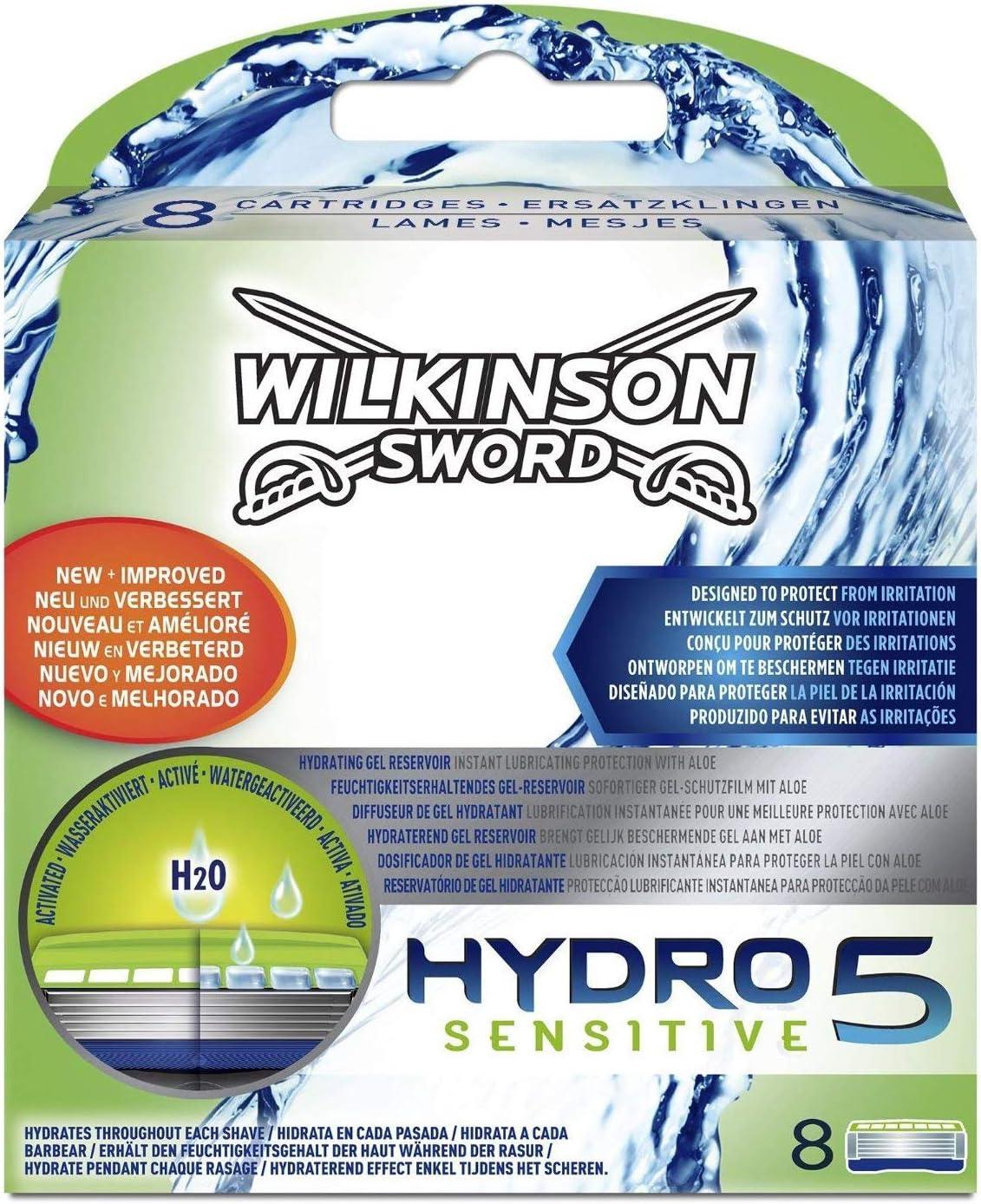 Wilkinson Sword Hydro 5 Sensitive - Recambio de Cuchillas de ...