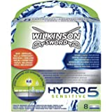 Wilkinson Sword Hydro 5 Sensitive Men's Razor Blades Refills x 8