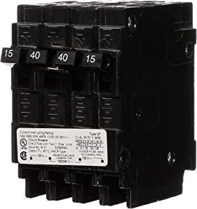 Siemens Q21540CT 40-Amp Double Pole Two 15-Amp Single Pole Circuit Breaker